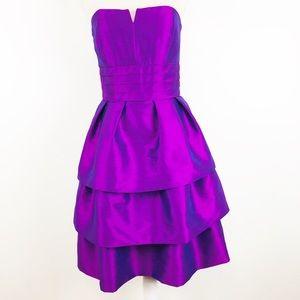 Alfred Sung Short Tiered Bridesmaid Dress  SZ 6
